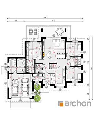 Чертеж Дом в акебиях 5