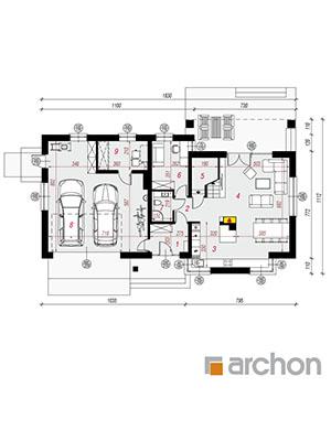 Чертеж Дом в спатифиллуме 2 (Г2)